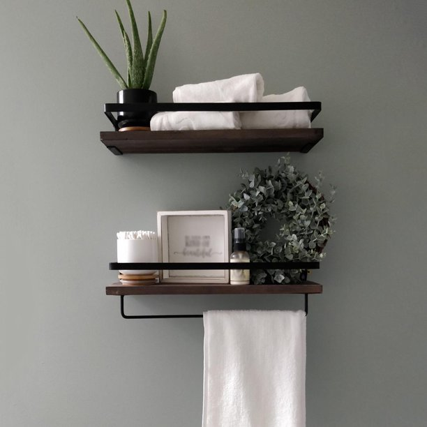Details About Rustic Wood Shelves